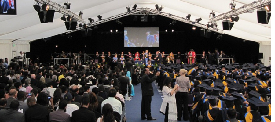 Temporary Structures For Graduation Anglia Ruskin