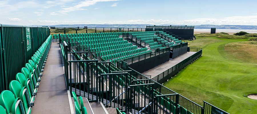 Temporary Golf Seating | Open Golf Seats | Open Golf