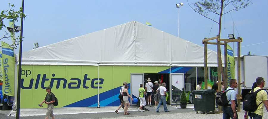 Corporate Events Product Launches Temporary Structure Branding