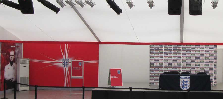 Football Press Conference Media Centre Temporary Structure