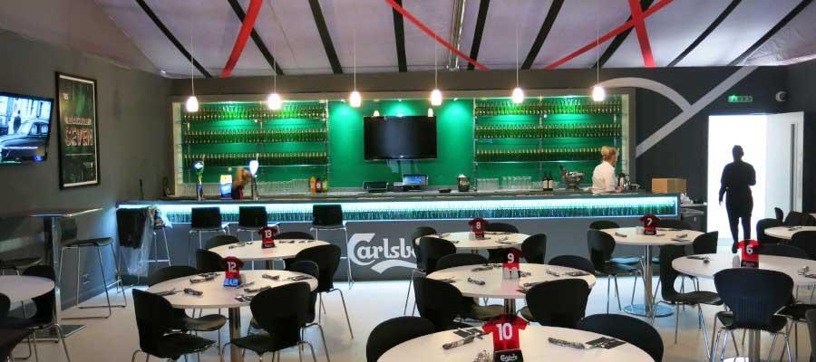 Football Temporary Hospitality Structure