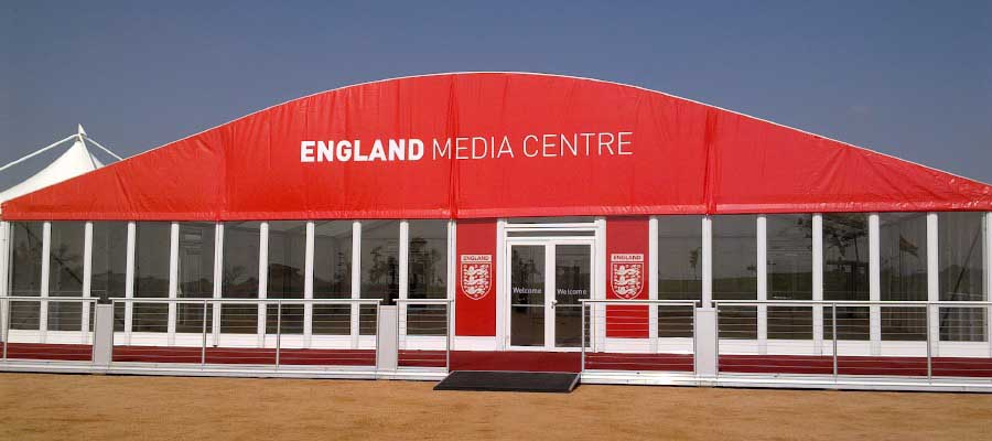 Football Tournament Temporary Structure Media Centre