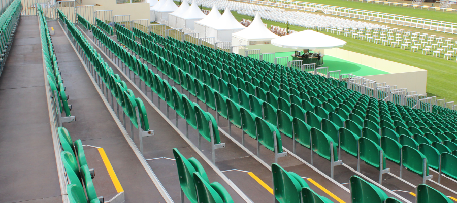 Horse Racing and Equestrian Temporary Event Tiered Seating Pagoda