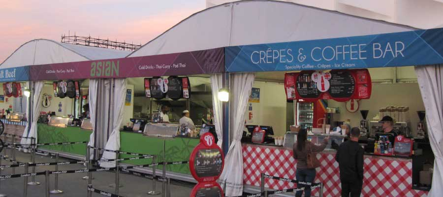 Olympics and Athletics Hospitality Marquee Hire