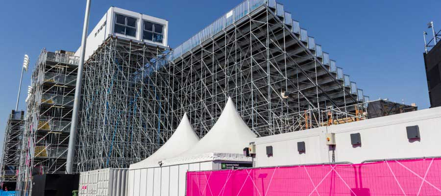 Olympics and Athletics Temporary Outdoor Grandstand Seating Construction