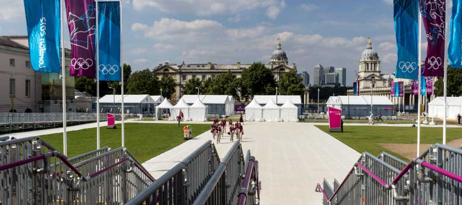 Olympics and Athletics Temporary Sporting Event Infractructure Pop Up Marquee Pagoda