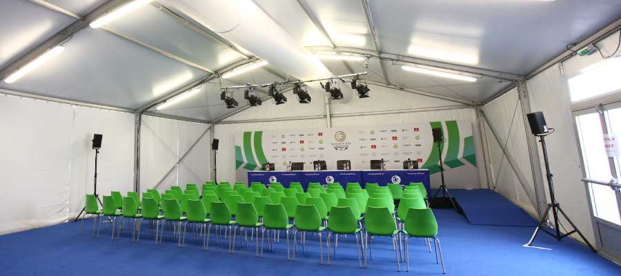 Olympics and Athletics Temporary Sporting Event Media Centre