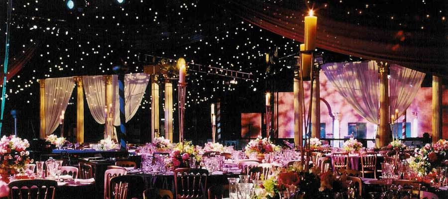 Parties and Celebrations Themed Event Blackout Bespoke Marquee