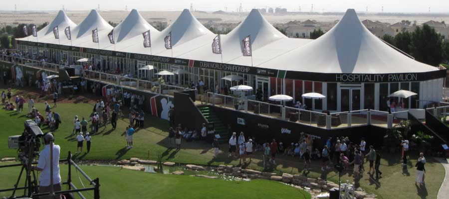 Sporting Events Golf-Hospitality Structure Media Platform