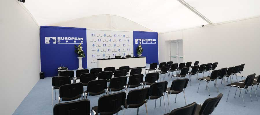 Sporting Events Golf Temporary Event Structure Media Centre