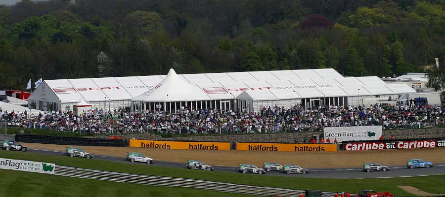 Sporting Events Motorsport Bespoke Temporary Event Structure Branded