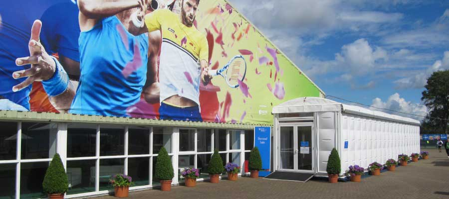 Tennis Bespoke Branded Temporary Structure