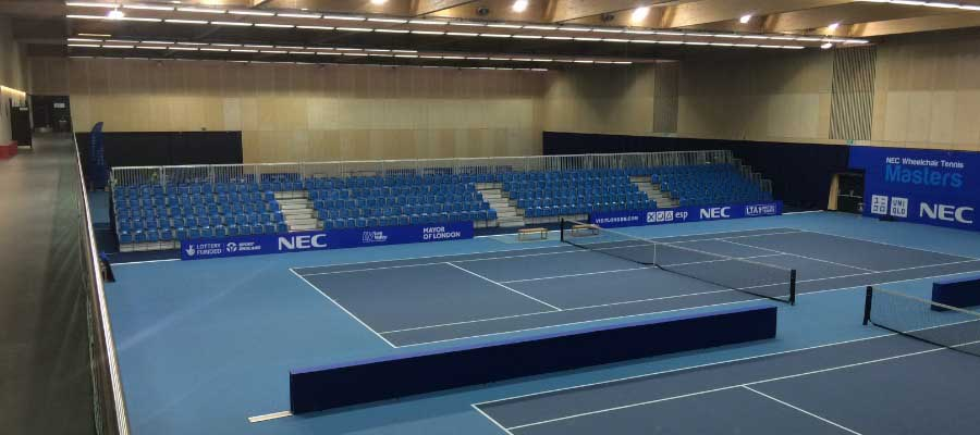 Tennis Indoor Tournament Temporary Tiered Seating