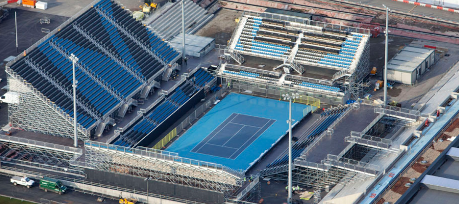 Tennis Temporary Grandstand Tiered Seating