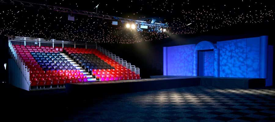 Venue Hire Performance Show Catwalk Stage Tiered Seating
