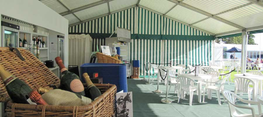 Horse Racing and Equestrian Marquee Temporary Catering Retail Unit
