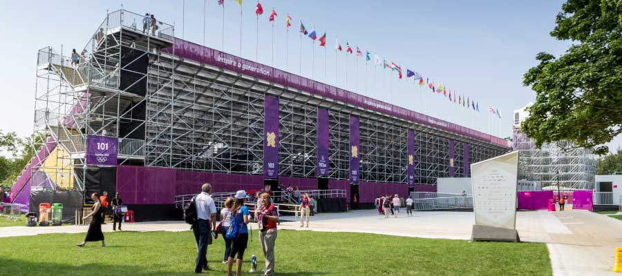 Olympics and Athletics Temporary Grandstand Construction