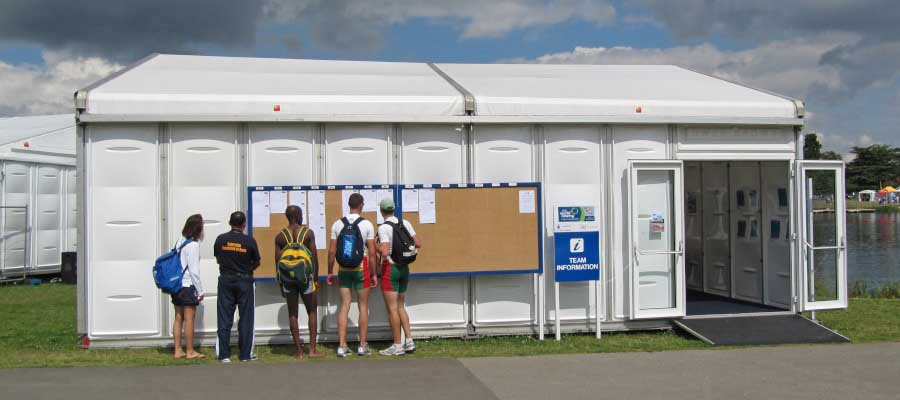 Temporary sporting event solutions
