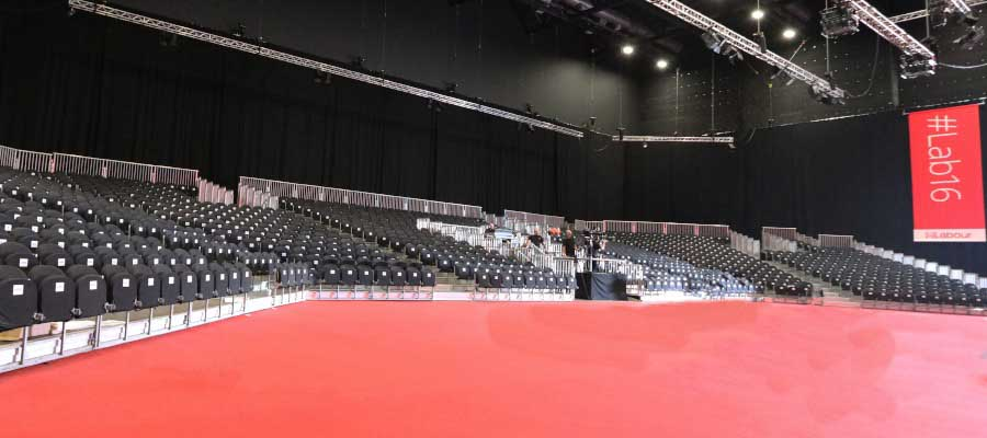 tiered seating grandstand labour party conference