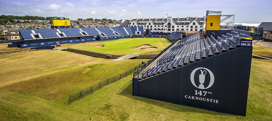 Temporary seating at 147th The Open Golf